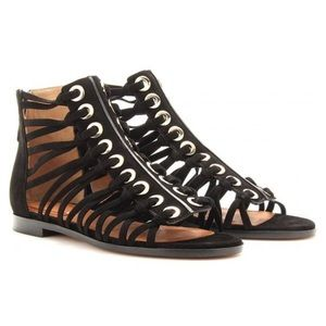 Givenchy Black Suede Gladiator Sandals